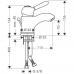 HANSGROHE Axor Carlton Смеситель для раковины, однорычажный (17010090)