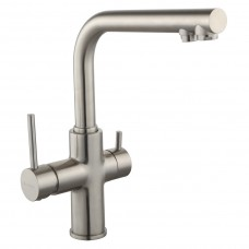 IMPRESE DAICY смеситель для кухни однорычажный с подключением питьевой воды, сатин (55009S-F)