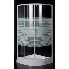 """EGER TISZA (AMUR) душевая кабина 90*90*185см (стекла + двери), профиль белый, стекло """"Frizеk"""" 599-02"""