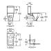 ROCA GAP компакт в комплекте: унитаз, бачок 3/4,5, сиденье с системой плавного опускания (A34947800W