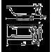 KOLO Украина MIRRA ванна 160*75см прямоугольная, с ножками SN0 и элементами крепления (XWP3360000)