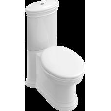 VILLEROY & BOCH AMADEA унитаз напольный, горизонт выпуск, 36,5*70cм, белый альпин CeramicPlus 769510