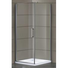 EGER RUDAS душевая кабина 90*90*200 см, квадратная, распашная, левая, стекло прозрачное (стекла+двер