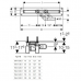 GEBERIT Basic Дренажный канал, монтаж в центре комнаты, 900 мм (154.412.00.1)