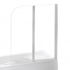 EGER Шторка на ванну 120*138см, профиль белый 599-121W