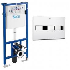 ROCA Комплект: PRO инсталяция для унитаза, PRO кнопка A890090020+A890096001