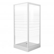"""EGER FRIDA душевая кабина 90*90*185см (стекла + двери), профиль белый, стекло """"Frizek"""" 599-151/1"""