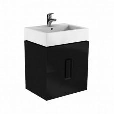 KOLO Польша TWINS шкафчик под умывальник 60 см с двумя ящиками, черный матовый (89494000)