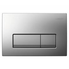GEBERIT DELTA 51 смывная клавиша, двойной смыв, пластик, хром матовый (115.105.46.1)