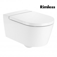 ROCA INSPIRA Round Rimless унитаз подвесной 37*56*44см, круглый, горизонтальный выпуск (A346527000)