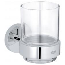 GROHE ESSENTIALS стакан стеклянный с держателем, хром (40447001)