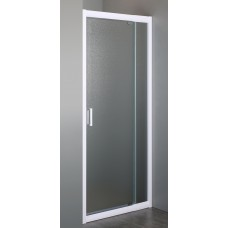 """EGER Дверь в нишу 70~80*185см распашная, профиль белый регулируемый, стекло """"Zuzmara"""" 5мм (599-111)"""