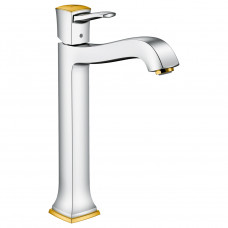 HANSGROHE METROPOL Classic смеситель для умывальника 260 однорычажный, хром/золото 31303090