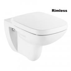ROCA DEBBA Rimless унитаз подвесной, с сиденьем (в упак.) (A34H99L000)