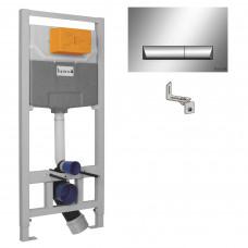 IMPRESE IMPRESE комплект инсталляции для унитаза 3в1 (инсталляция, крепления, клавиша хром i8120