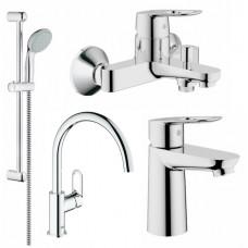GROHE BauLoop Набор смесителей для ванны+кухня (123225K)