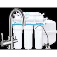 IMPRESE Комплект: DAICY-U смеситель для кухни + Ecosoft Standart система обратного осмоса (5ти ступе