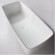 VOLLE Ванна 168*80*53см отдельностоящая каменная Solid surface (12-40-034)