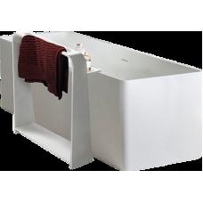 VOLLE Полка-полотенцедержатель 55*15*68см напольная каменная Solid surface (18-40-128)