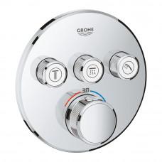 GROHE SMARTCONTROL термостат для душа/ванны с 3 кнопками, накладная панель (29121000)