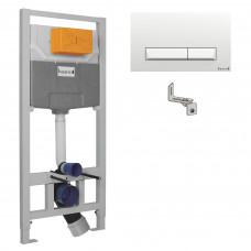 IMPRESE IMPRESE комплект инсталляции для унитаза 3в1 (инсталляция, крепления, клавиша белая (i8109)