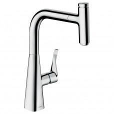 HANSGROHE METRIS Select смеситель для кухни 240, однорычажный, с выдвижным изливом (14857000)