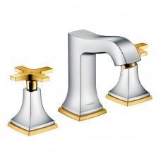 HANSGROHE METROPOL Classic смеситель для умывальника двухвентильный хром/золото 31306090