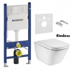 ROCA Комплект: GAP Rimless подвесной унитаз с сиденьем (A34H47C000+458.126.00.1)
