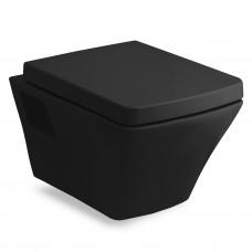 VOLLE TEO black унитаз 53*35,5*40см подвесной в комплекте с сиденьем slow-closing (13-88-422black)