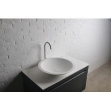 VOLLE Умывальник 51,5*10,5см накладной каменный круглый Solid surface 13-40-856