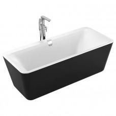 VOLLE Ванна 180*80*62см, отдельностоящая, слив-перелив, черно/белая (12-22-110black)