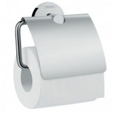 HANSGROHE LOGIS держатель туалетной бумаги, с крышкой, хром (41723000)