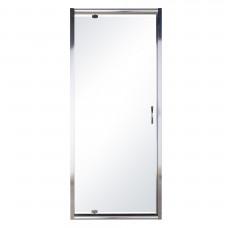 EGER Дверь в нишу 80*195см распашная, профиль хром, стекло прозрачное 5мм 599-150-80(h)