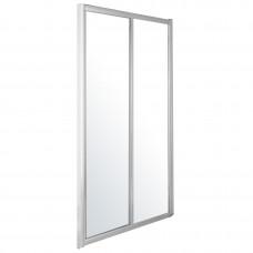 EGER Дверь в нишу 120*195см, раздвижная, профиль хром, стекло прозрачное 5мм 599-153(h)