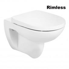 ROCA DEBBA Round Rimless чаша подвесного унитаза, в комплекте с сиденьем SUPRALIT (A34H996000)
