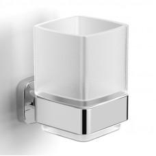 VOLLE TEO стакан матовое стекло, крепление к стене, хром (15-88-411)