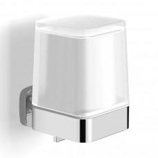 VOLLE TEO диспенсер с нижним нажимом, матовое стекло, крепление к стене, хром (15-88-422)