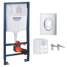 GROHE RAPID SL 3в1 комплект для подвесного  унитаза (бачок, крепеж, кнопка хром - двойн. (39503000)