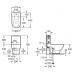 ROCA MERIDIAN-N чаша напольного унитаза (в упак.) (A342247000)