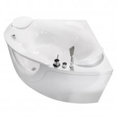 VOLLE Ванна 150*150*63см угловая, с окном, со смесителем, сифоном и подголовниками (TS-103СС)