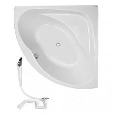 KOLO Украина INSPIRATION ванна угловая 140*140 см, с ножками SN8 + сифон Viega (XWN3040000+311537)