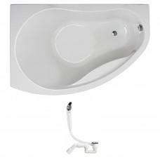 KOLO Украина PROMISE ванна асимметричная 150*100 см, левая, белая, с ножками SN7( XWA3051000+311537)