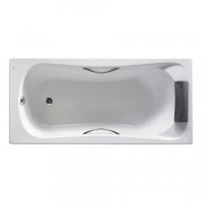 ROCA BECOOL ванна 180*80см прямоугольная, с подголовником, с 2мя ручками, с ножками, (A248015001)