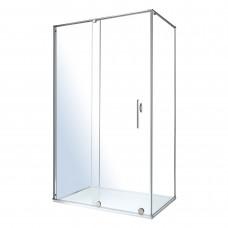 VOLLE TEO душевая кабина 117,5*87,5*200см (стекла + двери), раздвижная, хром, стекло прозрачное 8мм