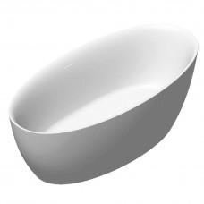 VOLLE Ванна 170*82*58,5см отдельностоящая, матовая акриловая, с сифоном (12-22-810М)