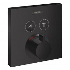 HANSGROHE SHOWERSELECT термостат для 2х потребителей, скрытого монтажа, цвет  чёрный (15763670)