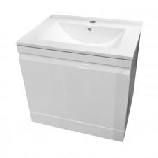 VOLLE ORLANDO комплект мебели 60см белый: тумба подвесная со скрытым ящиком + умывальник накладной а