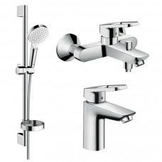 HANSGROHE Logis Loop Набор смесителей для ванны, умывальник 100 (1062019)