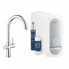 GROHE BLUE HOME смеситель однорычажный для мойки с функцией очищения воды, С-излив (31455001)