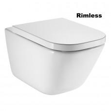 ROCA Комплект: GAP Rimless унитаз подвесной, GAP сиденье для унитаза soft clos (A34647L000+A80148200